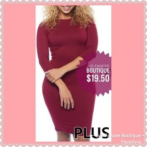 Dresses & Skirts - 3/4 Sleeve Solid Plus Size Dress was $19.50